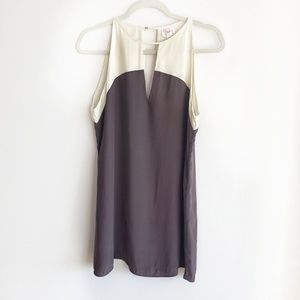 Parker Mini Two Colors Sleeveless Silk Dress